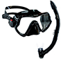 Aquagear M11  Mask &Snorkel Sets Black