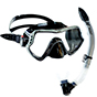 Aquagear M11 Mask and Snorkel Set Gray/Black