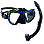 Aquagear M24 Mask and Snorkel Set Blue/Black
