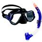 Aquagear M22 Mask & Snorkel Set Teal Blue/Black