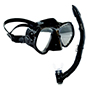 Aquagear M21 Mask & Snorkel Set Black