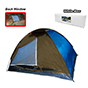 Bobcat 10-Person Monodome Tent with Box Blue/Brown