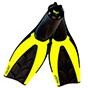 Aquagear Diving Fins Medium (Neon Yellow)