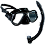 Aquagear M22 Mask & Snorkel Set Black
