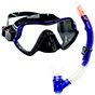Aquagear M11 Mask and Snorkel Set Teal Blue/Black