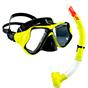 Aquagear M22 Mask & Snorkel Set Neon Yellow/Black