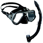 Aquagear M22 Mask & Snorkel Set Gray/Black