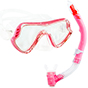 Aquagear M11 Mask & Snorkel Set Pink/Clear
