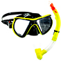 Aquagear M24 Mask and Snorkel Set Neon Yellow/Black