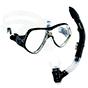 Aquagear M21 Mask & Snorkel Set Black/Clear