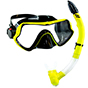 Aquagear M11 Mask and Snorkel Neon Yellow/Black