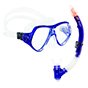 Aquagear M21 Mask & Snorkel Set Teal Blue/Clear