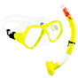 Aquagear M21 Mask & Snorkel Set Neon Yellow/Clear